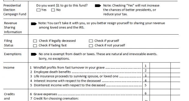 Form 1040 Rip For Filing A Return From The Grave Rescue A Ceo